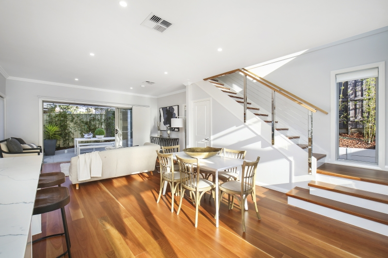 210 Terrigal Drive living and stairs