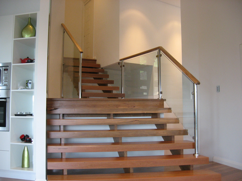 Open riser stairs by central coast stairs