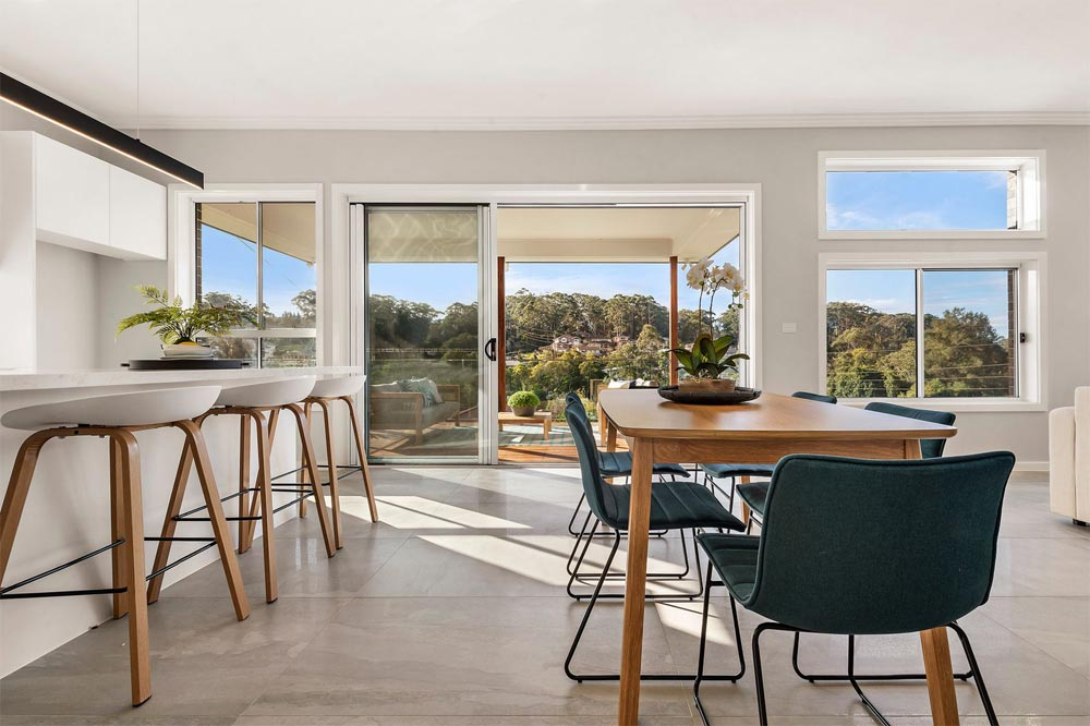 Terrigal Dining Featuring Lappato Tiles