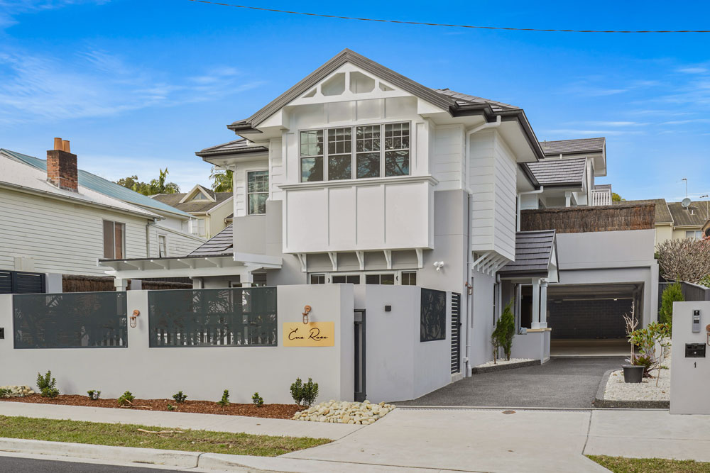 Custom Hamptons Façade project completed in Ena Street Terrigal