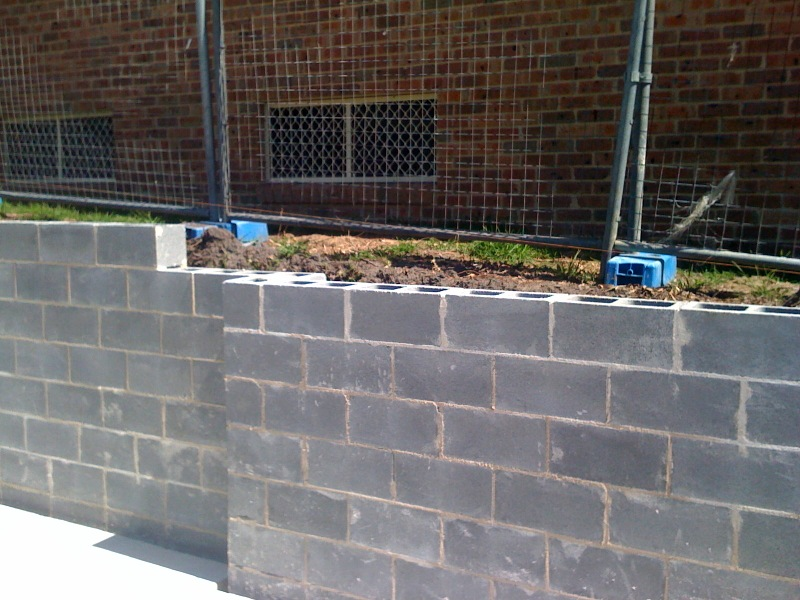 Besa Block Retaining wall