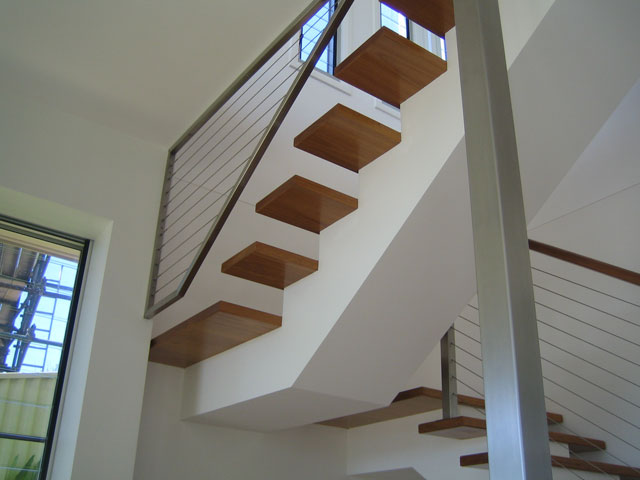open riser box stringer stairs On boxing in open stairs