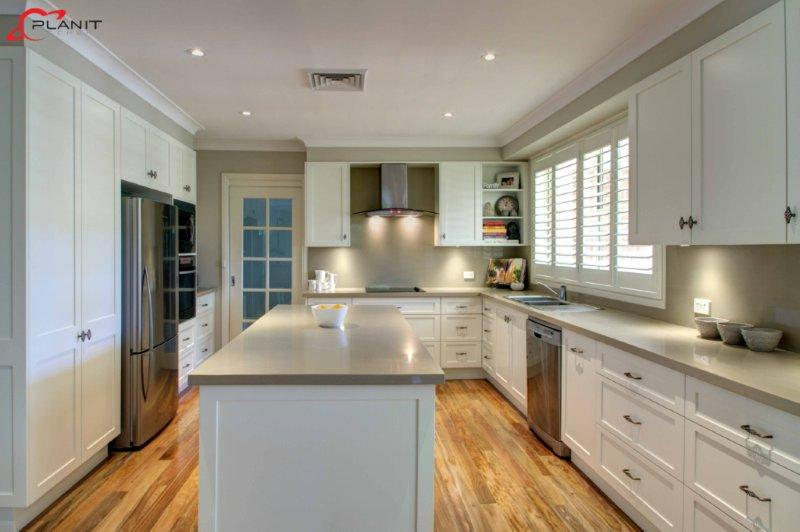 Galley style kitchen by planit kitchens 11 gallery for Island in small galley kitchen