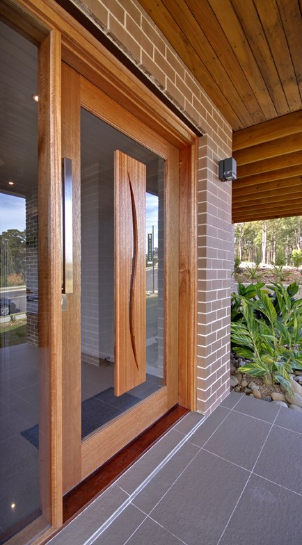 Mayfield Display Home at Cameron Park - 1200mm wide front door.