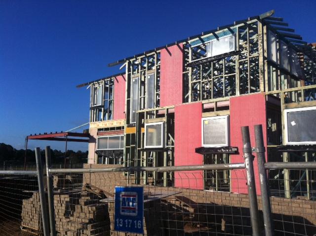 San Souci Display Home Wall Frames and Brickwork.