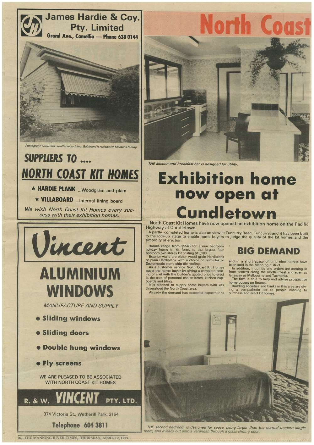 Exhibition home now open at Cundletown