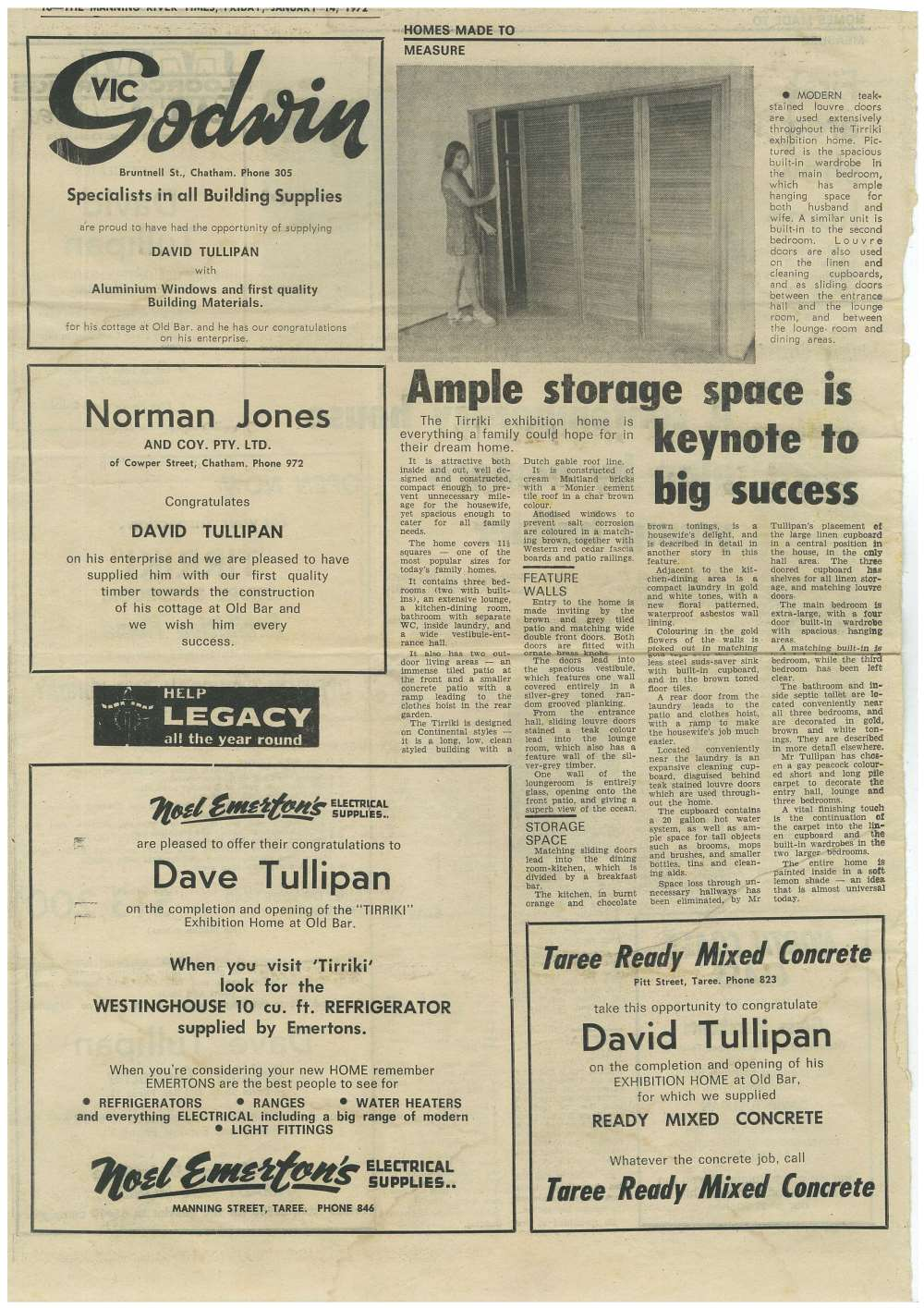 January 14 1972 Tullipan Homes