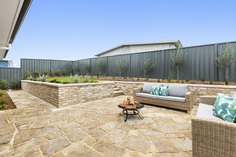 Hamptons Display Home Outdoor Area