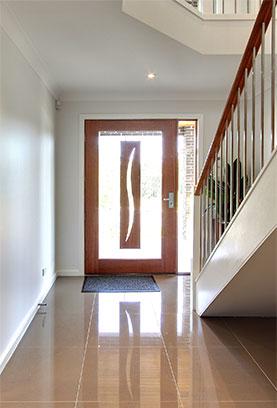 Custom interior front door design