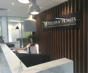 Tullipan Homes Front Desk, Brochures