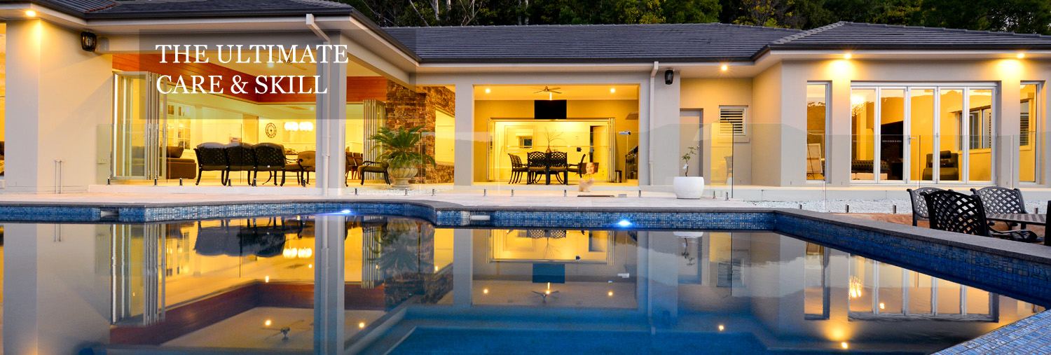 Homestead design with pool