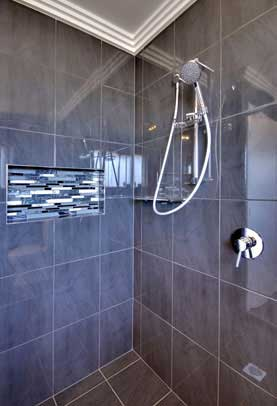 Wall rail shower tapware