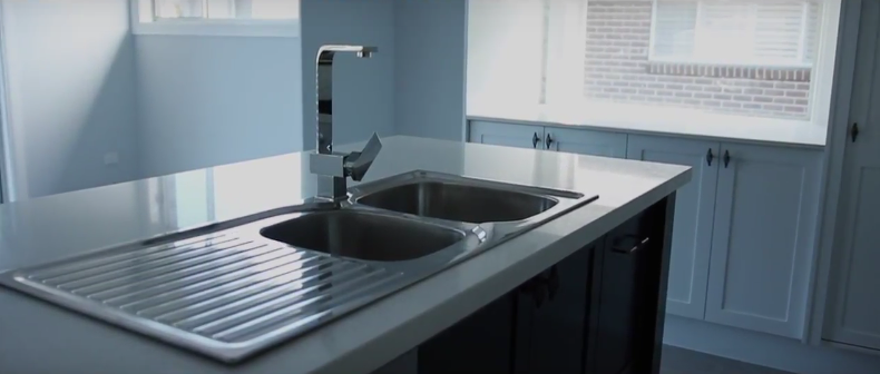 Kitchen tap and sink